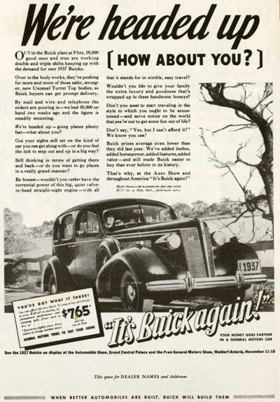 1937 Buick Ads